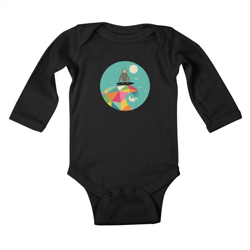 Surfs Up Kids Baby Longsleeve Bodysuit by andywestface's Artist Shop