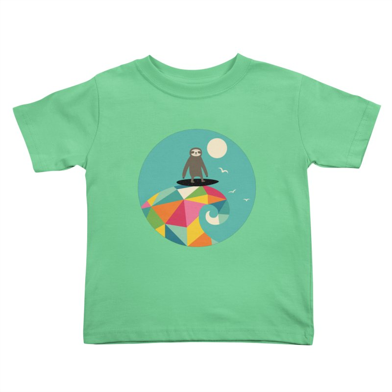 Surfs Up Kids Toddler T-Shirt by andywestface's Artist Shop