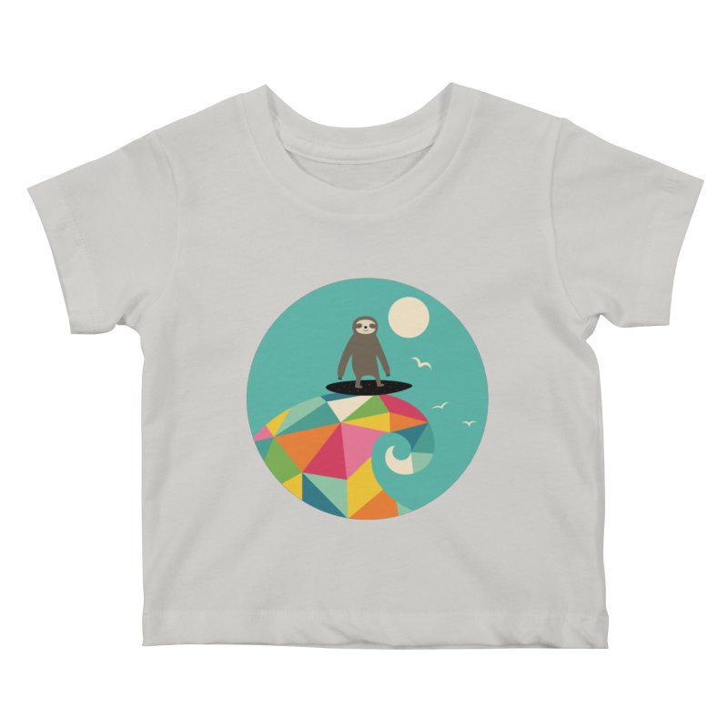 Surfs Up Kids Baby T-Shirt by andywestface's Artist Shop