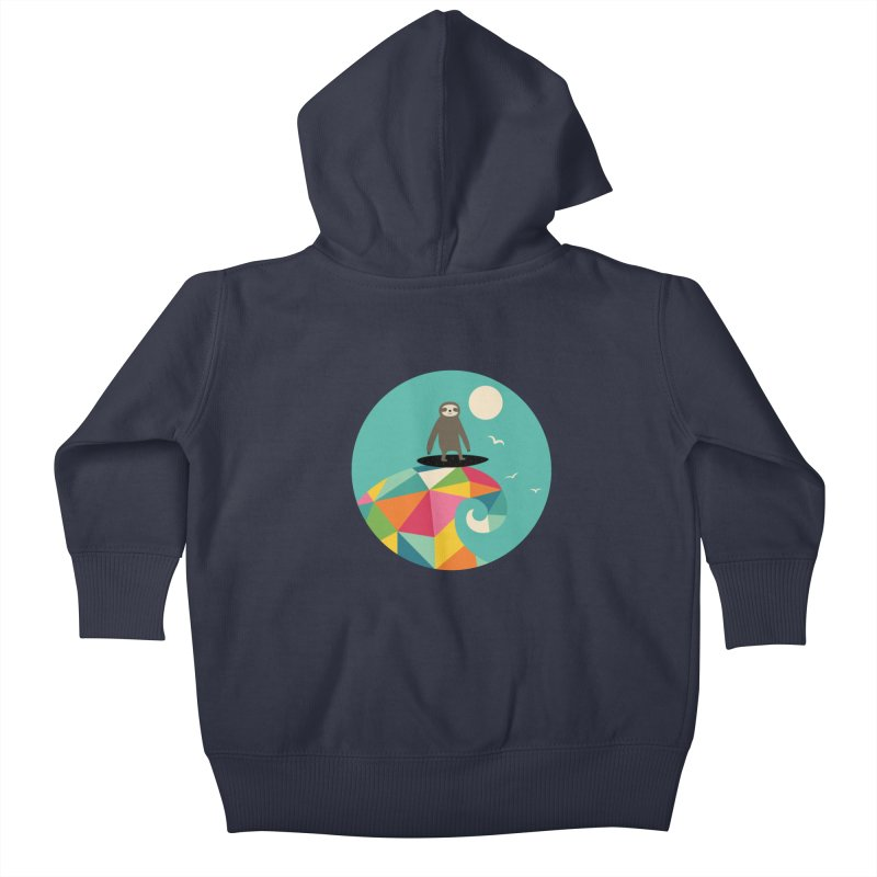 Surfs Up Kids Baby Zip-Up Hoody by andywestface's Artist Shop