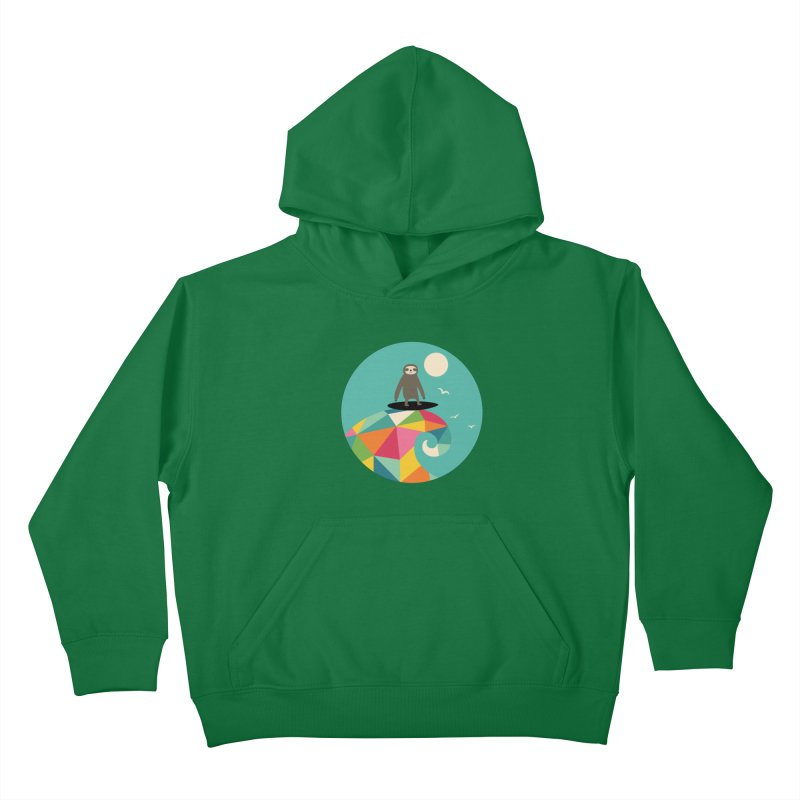 Surfs Up Kids Pullover Hoody by andywestface's Artist Shop