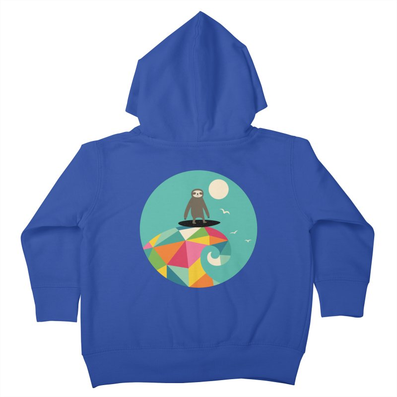 Surfs Up Kids Toddler Zip-Up Hoody by andywestface's Artist Shop