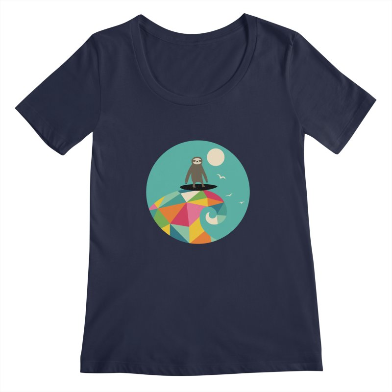 Surfs Up Women's Scoopneck by andywestface's Artist Shop