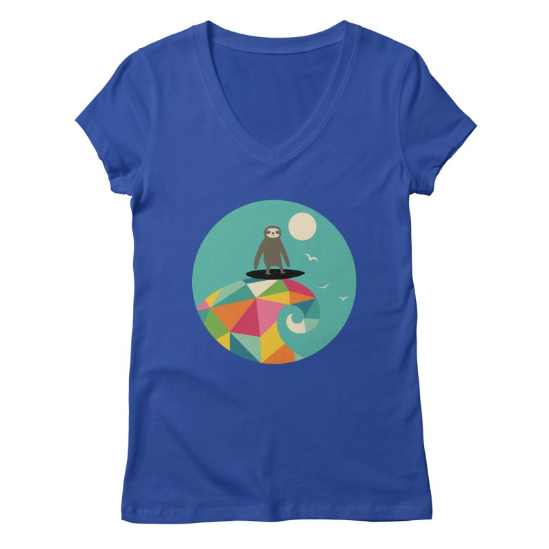 Surfs Up Women's V-Neck by andywestface's Artist Shop