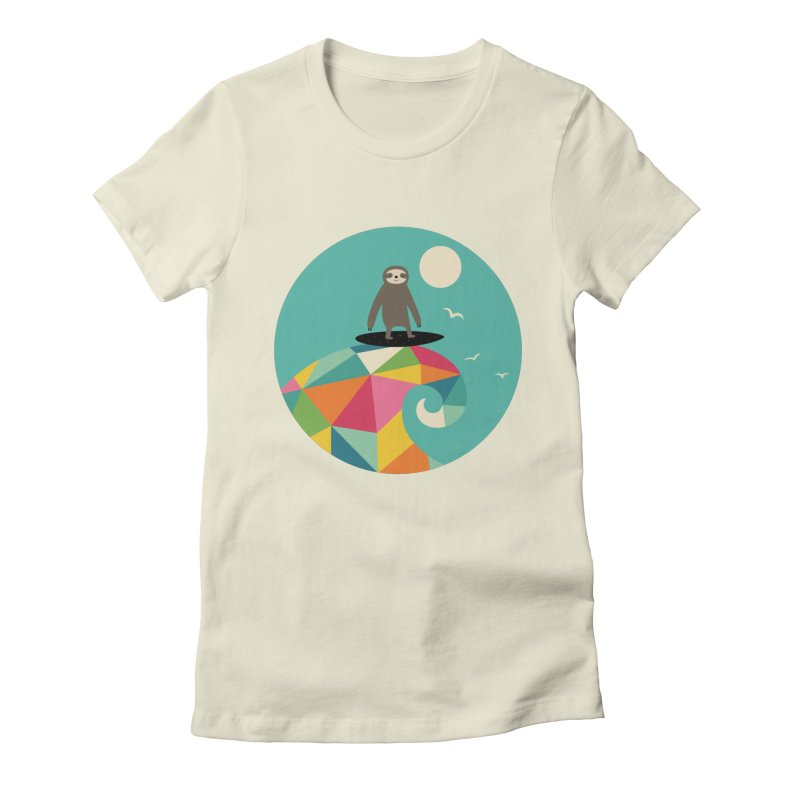 Surfs Up Women's Fitted T-Shirt by andywestface's Artist Shop