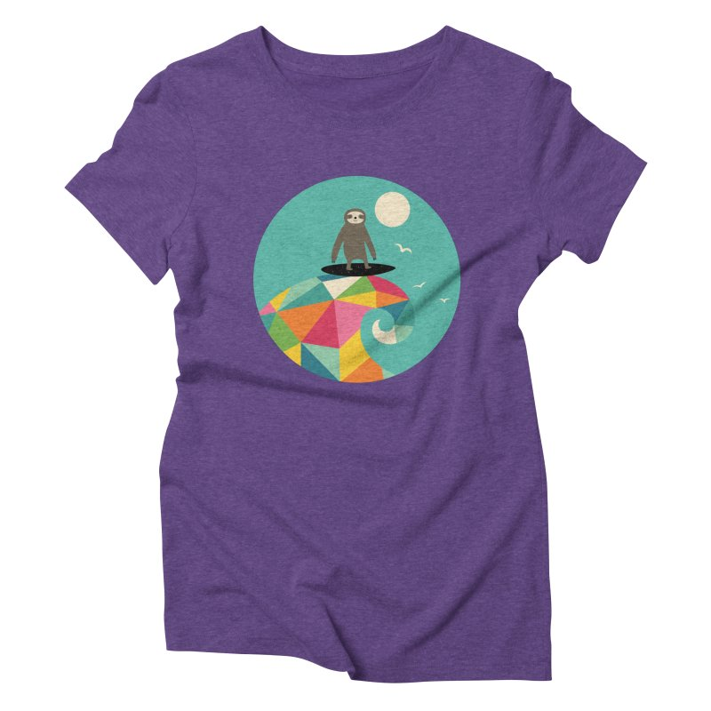 Surfs Up Women's Triblend T-Shirt by andywestface's Artist Shop