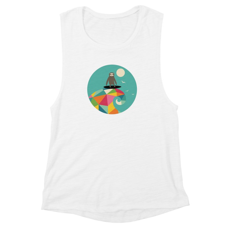 Surfs Up Women's Muscle Tank by andywestface's Artist Shop