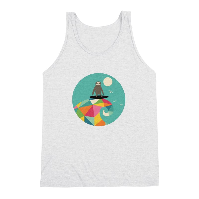 Surfs Up Men's Triblend Tank by andywestface's Artist Shop