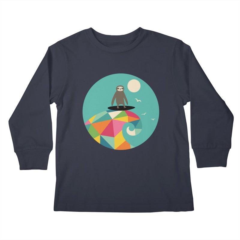 Surfs Up Kids Longsleeve T-Shirt by andywestface's Artist Shop