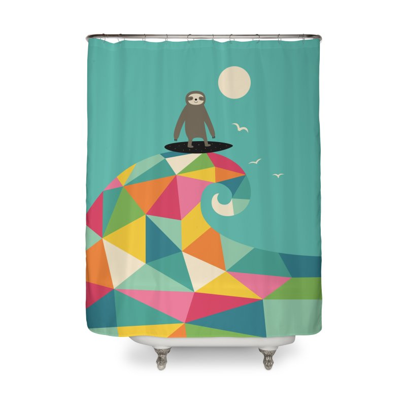 Surfs Up Home Shower Curtain by andywestface's Artist Shop