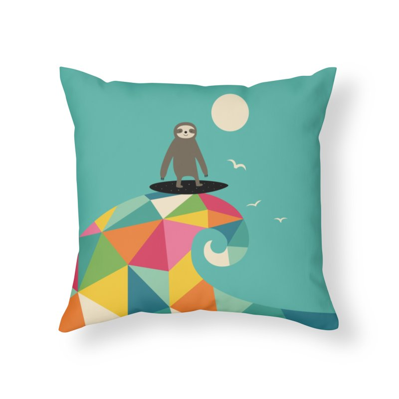 Surfs Up Home Throw Pillow by andywestface's Artist Shop