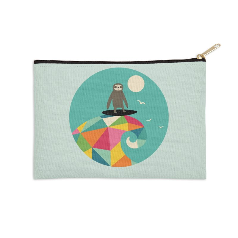 Surfs Up Accessories Zip Pouch by andywestface's Artist Shop