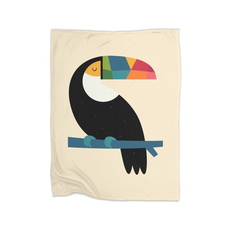 Rainbow Toucan Home Blanket by andywestface's Artist Shop