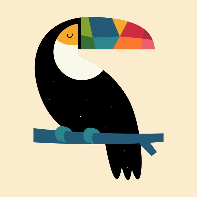 Rainbow Toucan by andywestface's Artist Shop