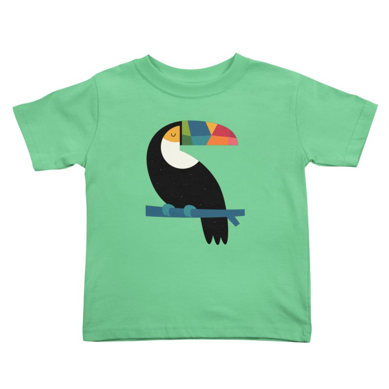 Rainbow Toucan Kids Toddler T-Shirt by andywestface's Artist Shop