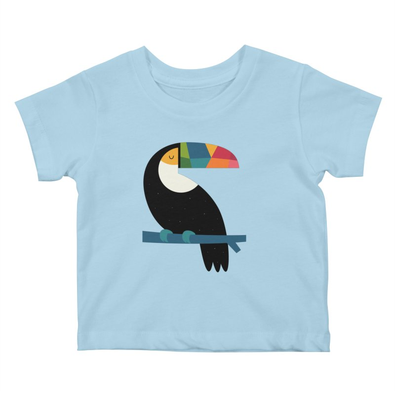 Rainbow Toucan Kids Baby T-Shirt by andywestface's Artist Shop