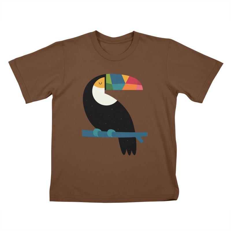 Rainbow Toucan Kids T-Shirt by andywestface's Artist Shop