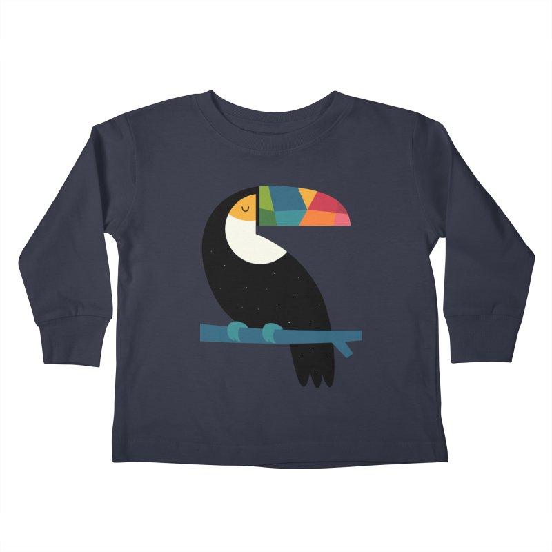 Rainbow Toucan Kids Toddler Longsleeve T-Shirt by andywestface's Artist Shop