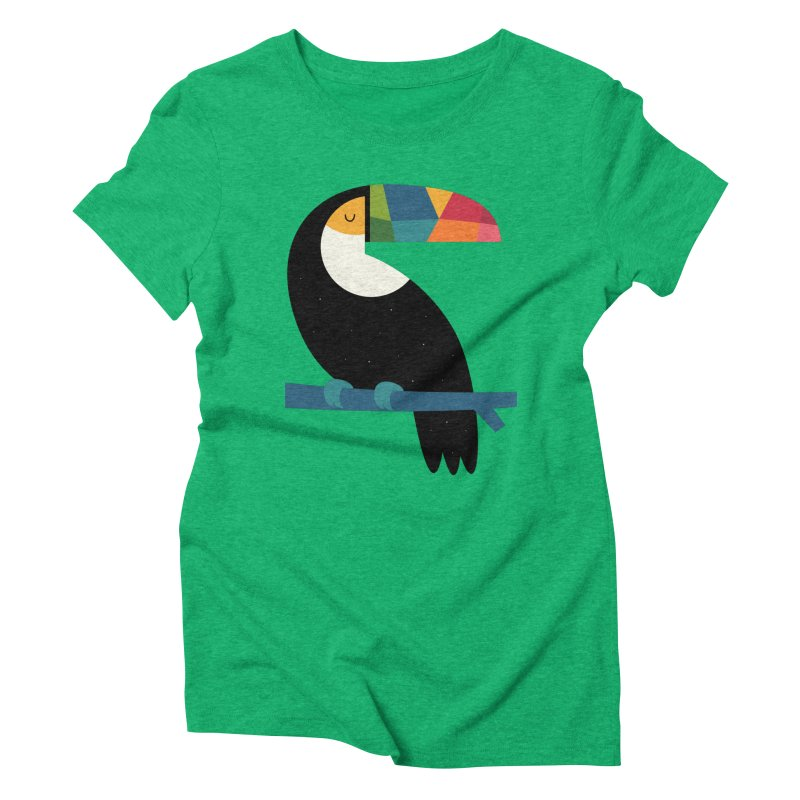 Rainbow Toucan Women's Triblend T-Shirt by andywestface's Artist Shop