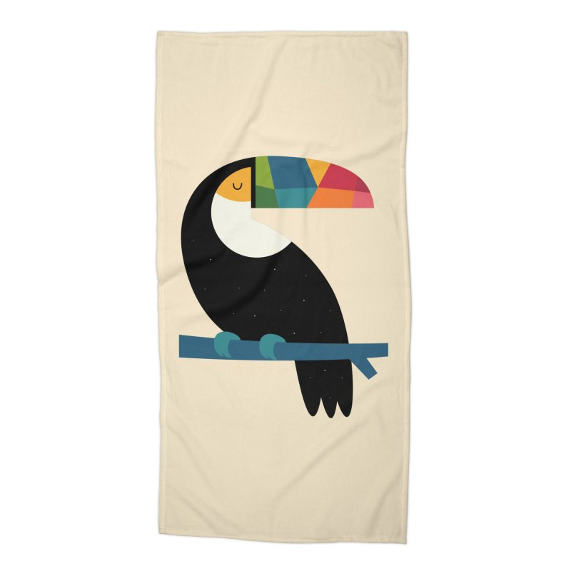 Rainbow Toucan Accessories Beach Towel by andywestface's Artist Shop