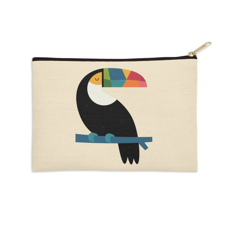 Rainbow Toucan Accessories Zip Pouch by andywestface's Artist Shop