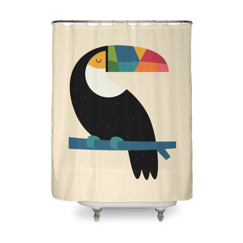 Rainbow Toucan Home Shower Curtain by andywestface's Artist Shop