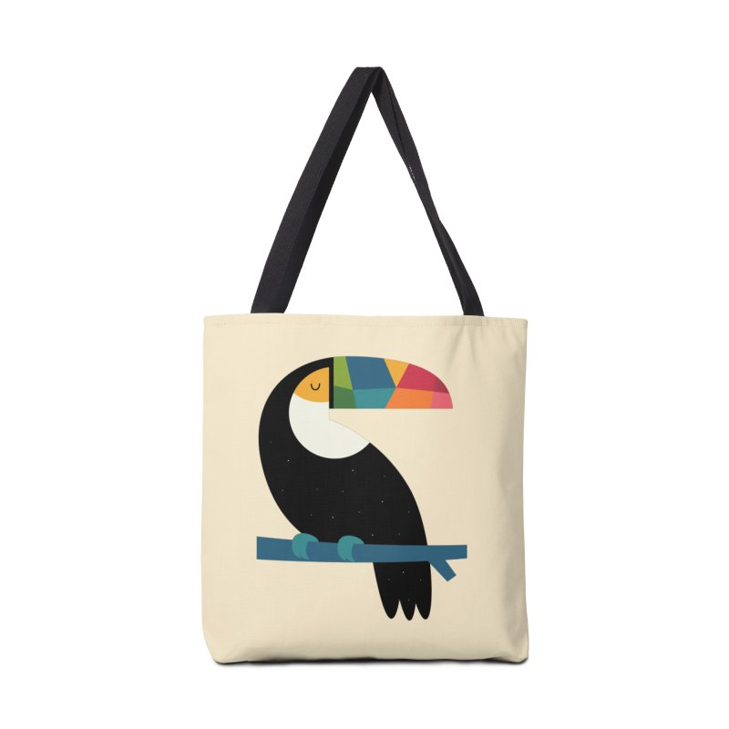 Rainbow Toucan Accessories Bag by andywestface's Artist Shop