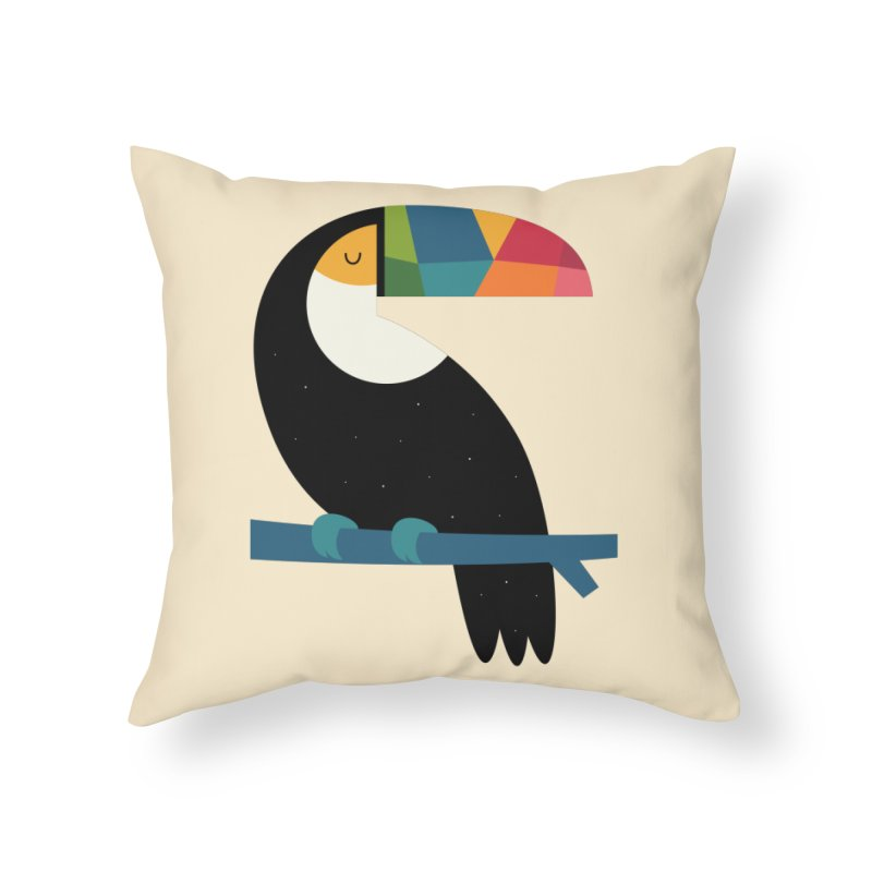 Rainbow Toucan Home Throw Pillow by andywestface's Artist Shop