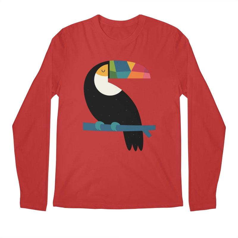 Rainbow Toucan Men's Regular Longsleeve T-Shirt by andywestface's Artist Shop