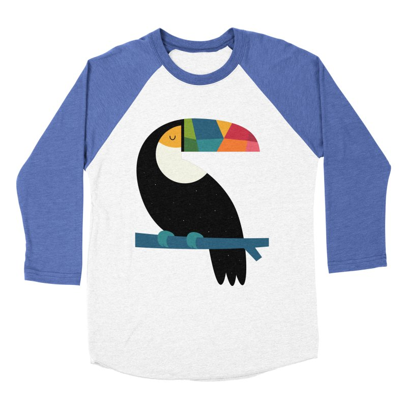 Rainbow Toucan Women's Baseball Triblend Longsleeve T-Shirt by andywestface's Artist Shop