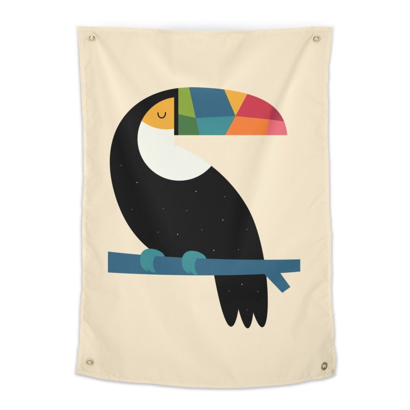 Rainbow Toucan Home Tapestry by andywestface's Artist Shop