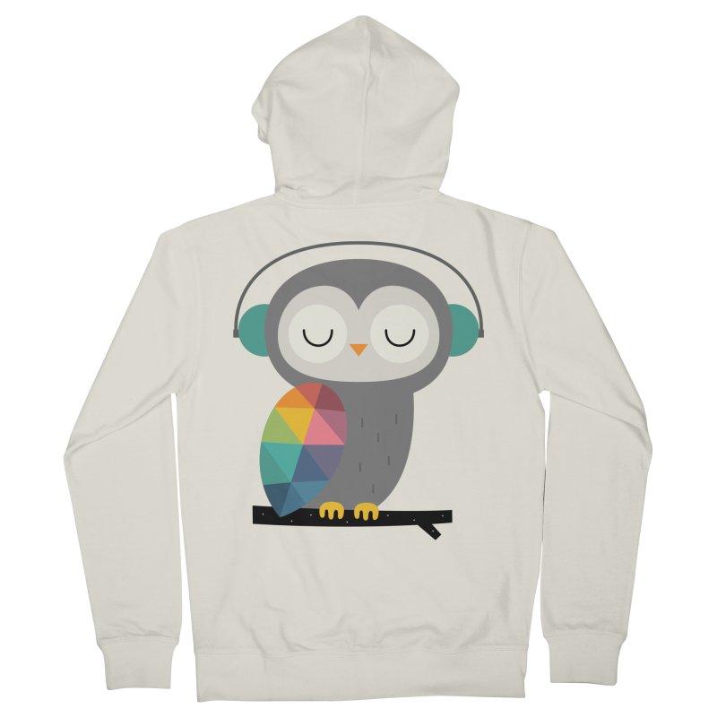Owl Time Men's Zip-Up Hoody by andywestface's Artist Shop