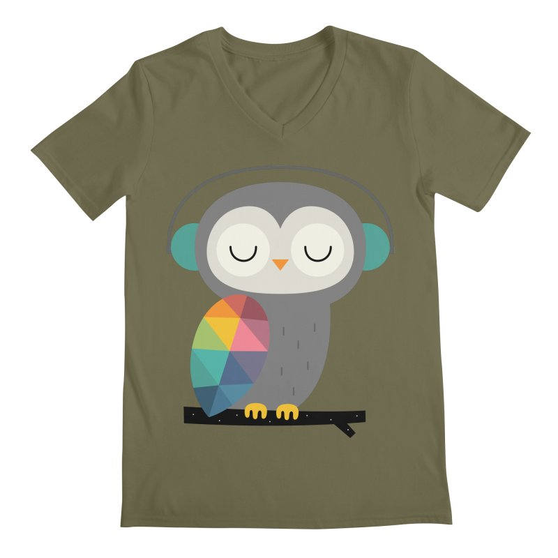 Owl Time Men's V-Neck by andywestface's Artist Shop
