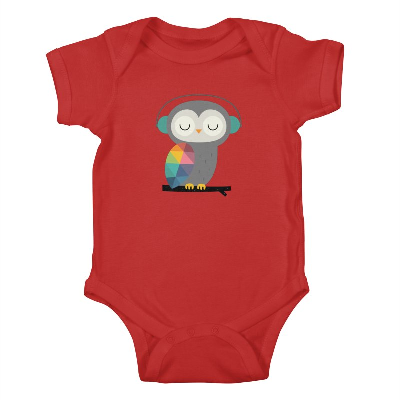 Owl Time Kids Baby Bodysuit by andywestface's Artist Shop
