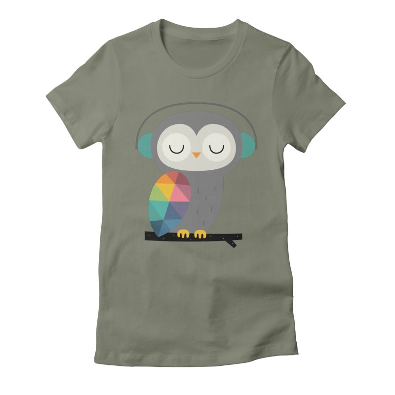 Owl Time Women's Fitted T-Shirt by andywestface's Artist Shop