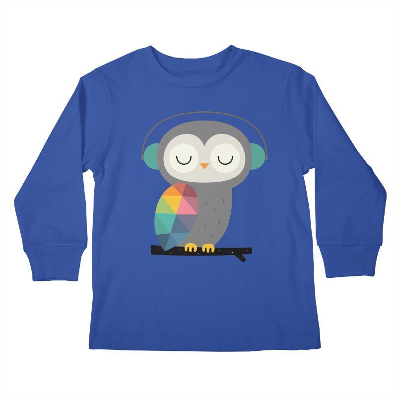 Owl Time Kids Longsleeve T-Shirt by andywestface's Artist Shop