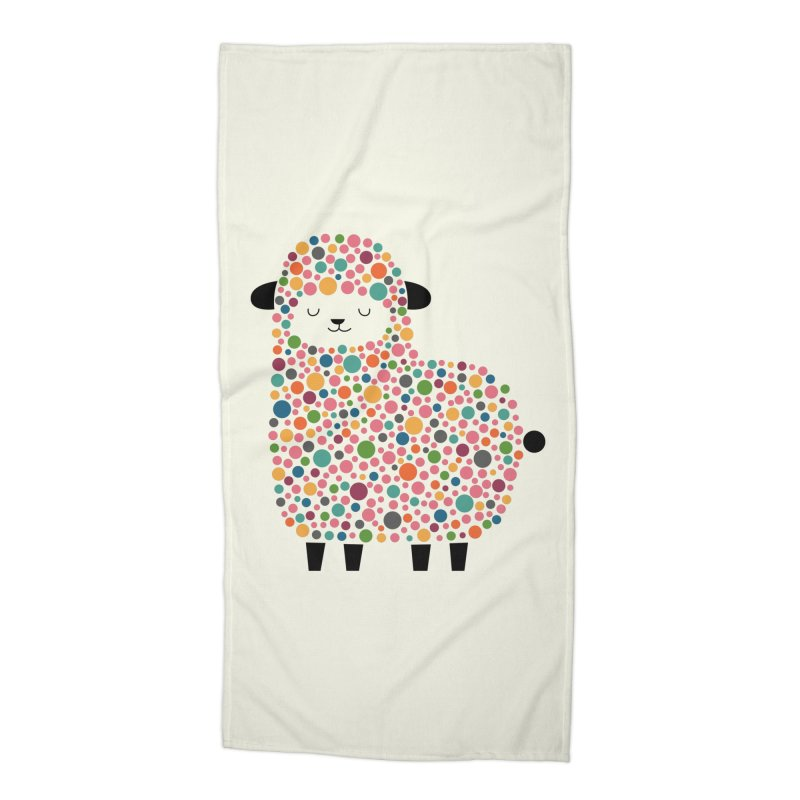 Bubble Sheep Accessories Beach Towel by andywestface's Artist Shop