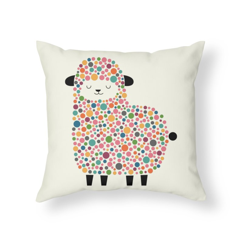 Bubble Sheep Home Throw Pillow by andywestface's Artist Shop