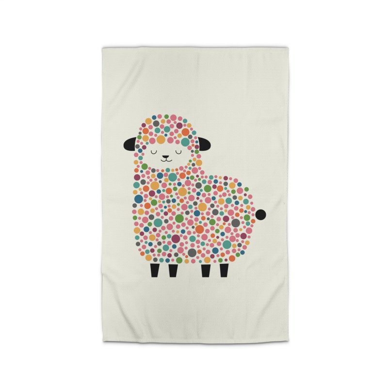 Bubble Sheep Home Rug by andywestface's Artist Shop