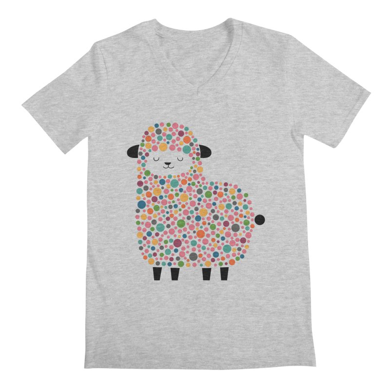Bubble Sheep Men's V-Neck by andywestface's Artist Shop