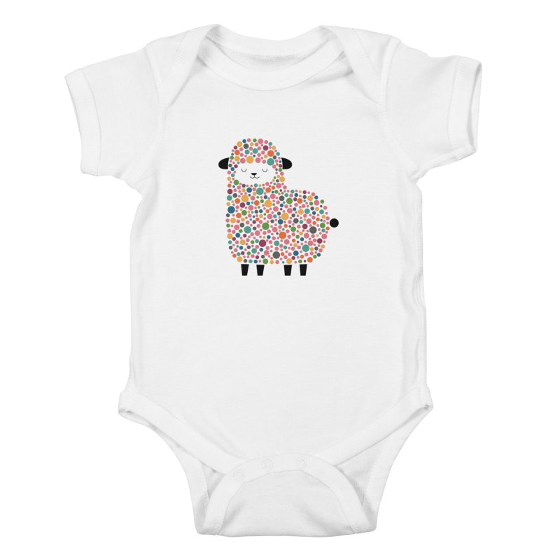 Bubble Sheep Kids Baby Bodysuit by andywestface's Artist Shop