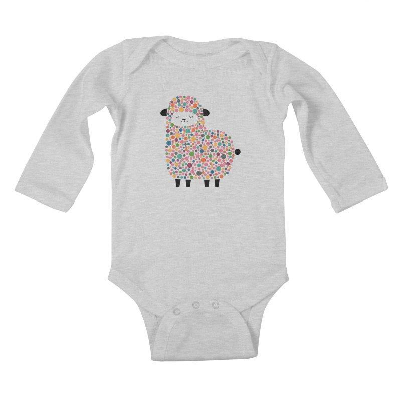 Bubble Sheep Kids Baby Longsleeve Bodysuit by andywestface's Artist Shop