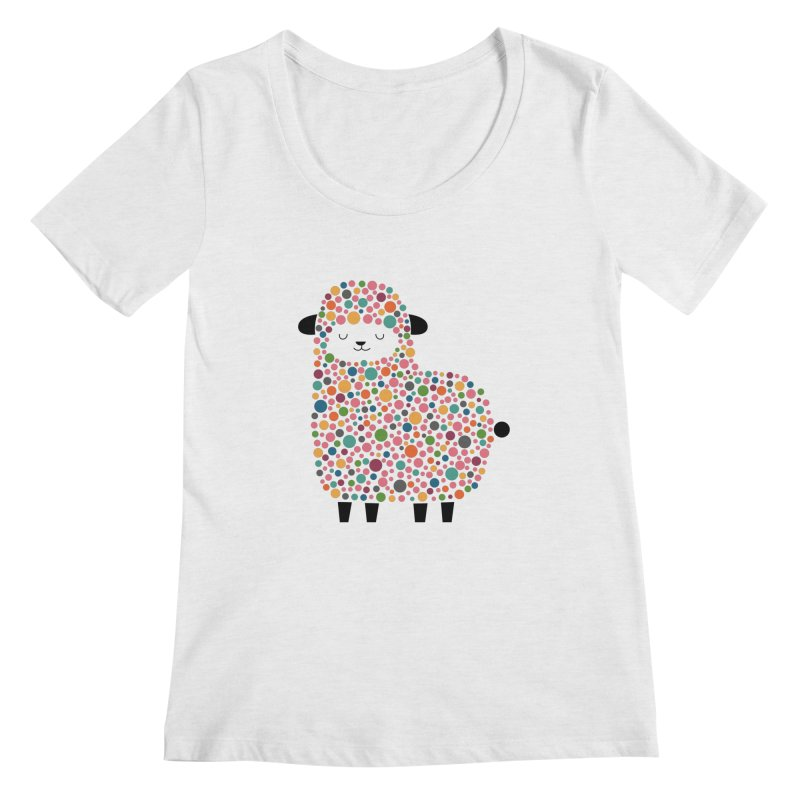 Bubble Sheep Women's Scoopneck by andywestface's Artist Shop
