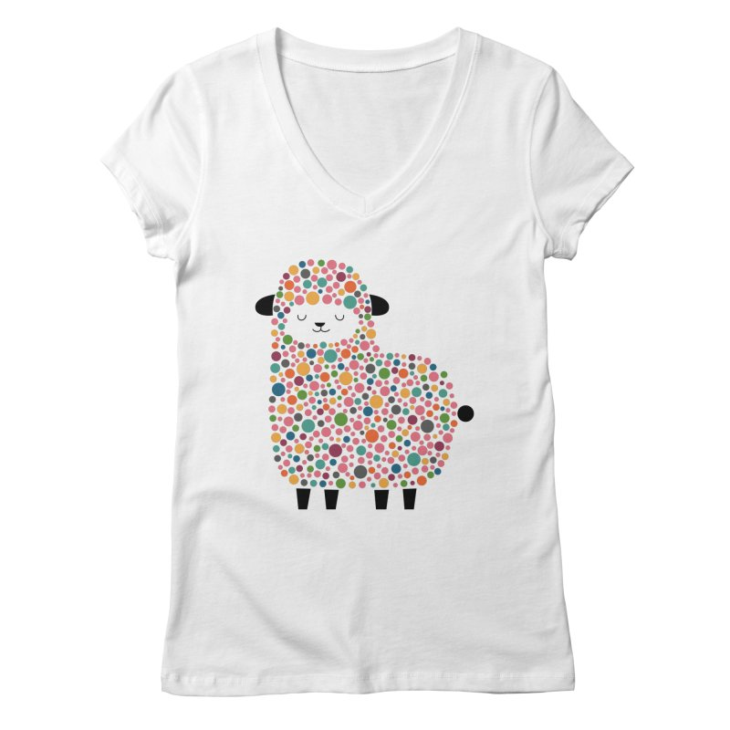Bubble Sheep Women's V-Neck by andywestface's Artist Shop