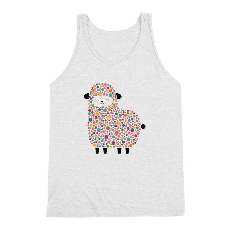 Bubble Sheep Men's Triblend Tank by andywestface's Artist Shop