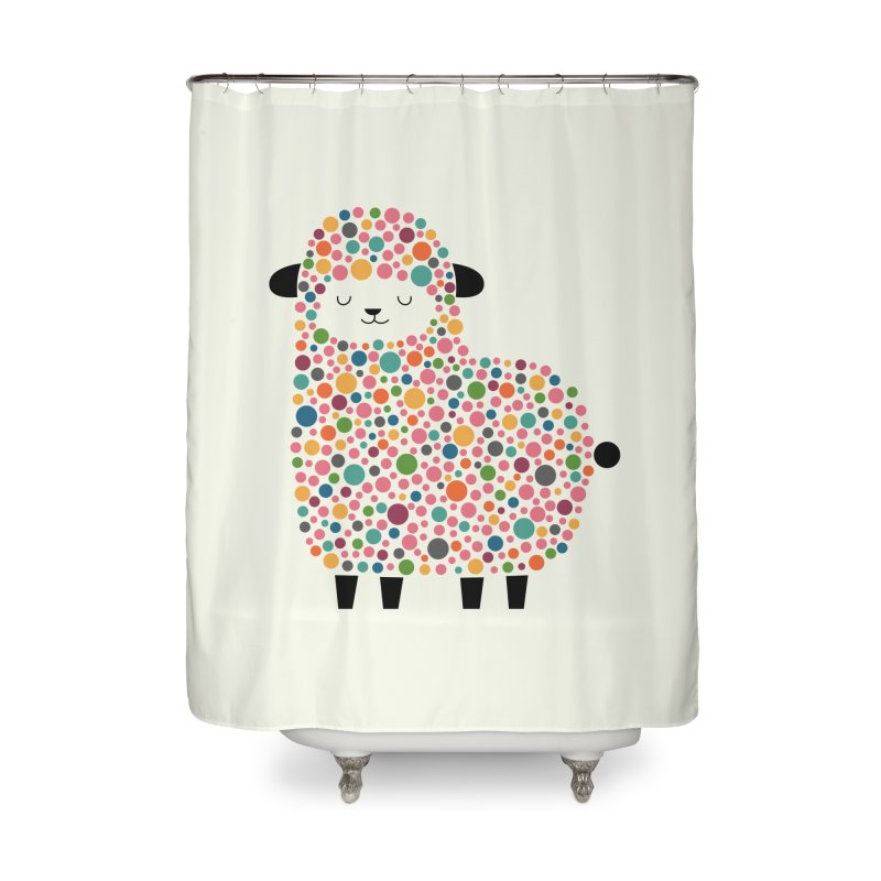 Bubble Sheep Home Shower Curtain by andywestface's Artist Shop