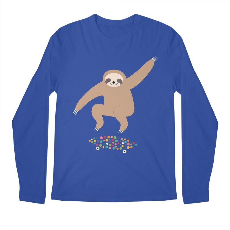 Sloth Gravity Men's Regular Longsleeve T-Shirt by andywestface's Artist Shop