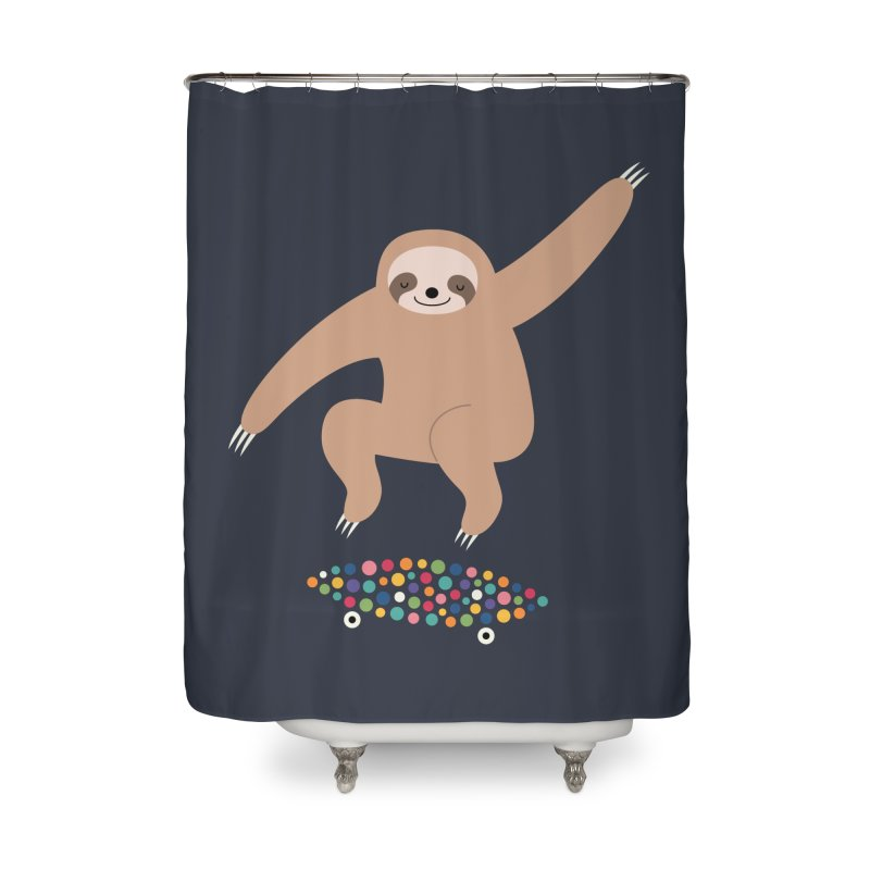 Sloth Gravity Home Shower Curtain by andywestface's Artist Shop