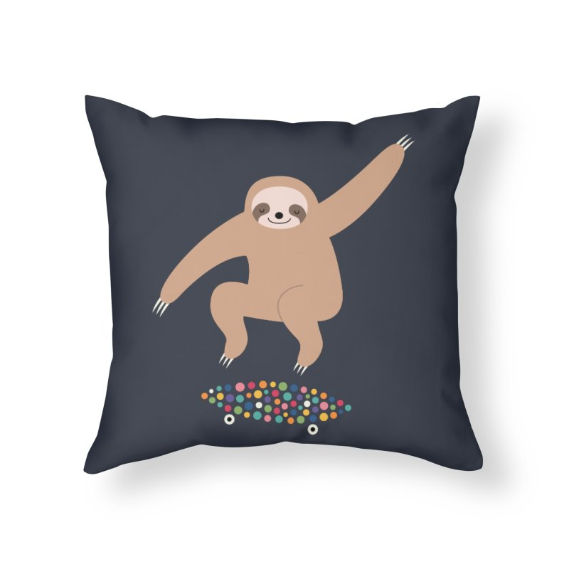 Sloth Gravity Home Throw Pillow by andywestface's Artist Shop