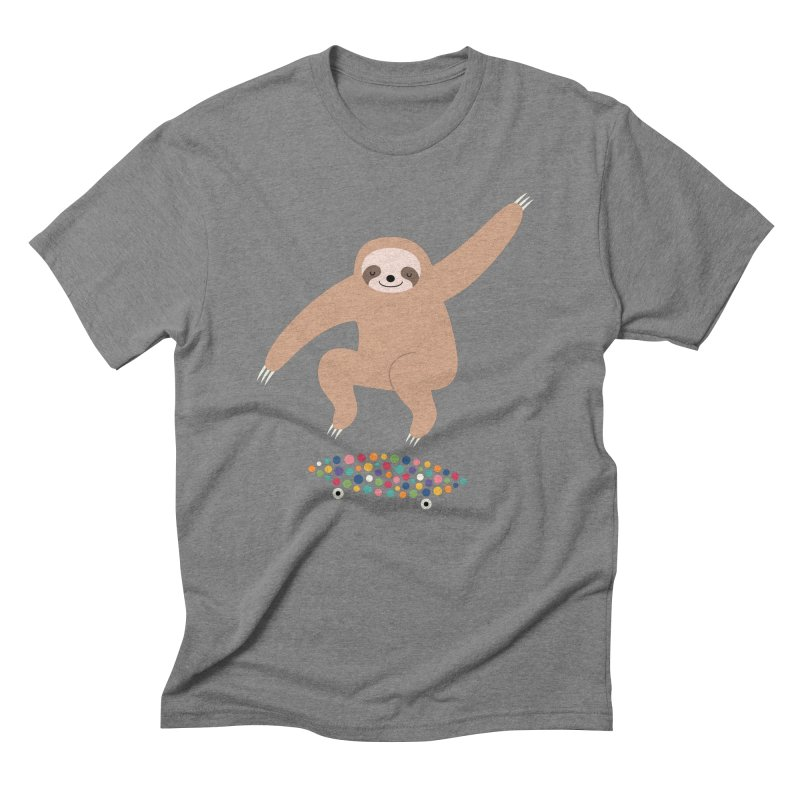Sloth Gravity Men's Triblend T-Shirt by andywestface's Artist Shop